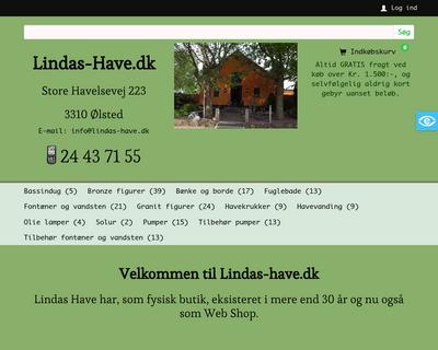 lindas-have.dk website