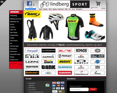 lindbergsport.dk website