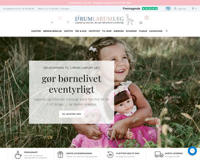 lirumlarumleg.dk website