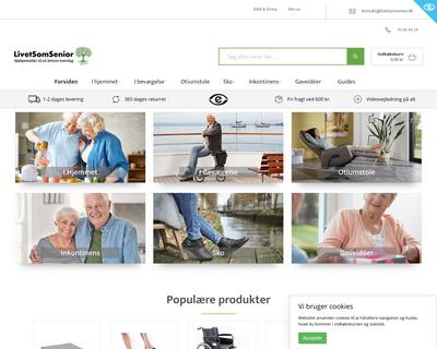 www.livetsomsenior.dk website