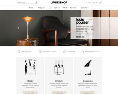 livingshop.dk website