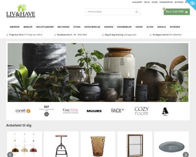 livoghave.dk website