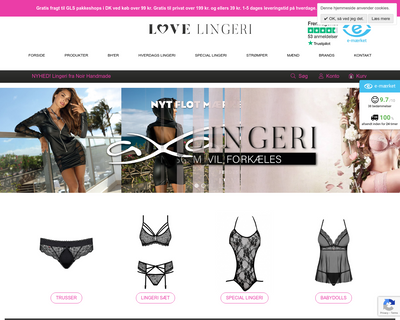 love-lingeri.dk website