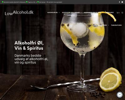 lowalcohol.dk website