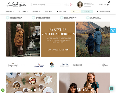 luksusbaby.dk website