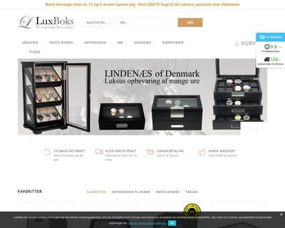 luxboks.dk website