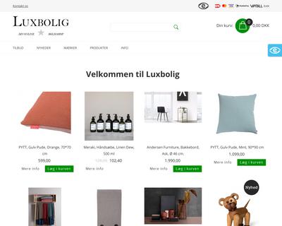 luxbolig.dk website