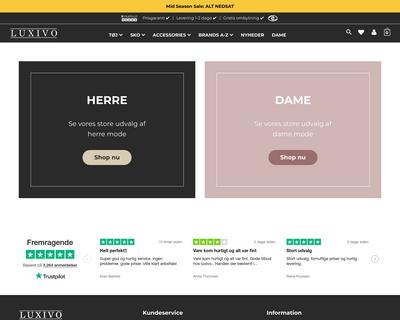luxivo.dk website
