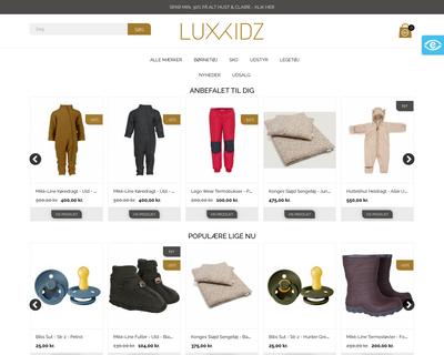 luxkidz.dk website