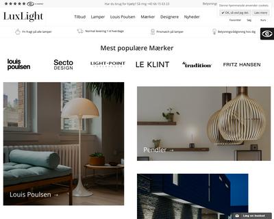 luxlight.dk website