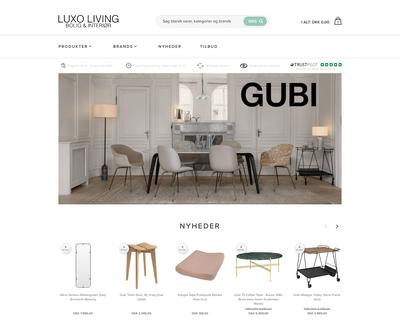 luxoliving.dk website