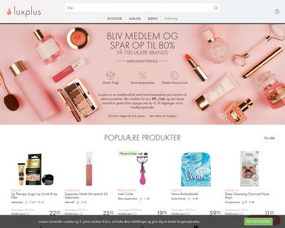 luxplus.dk website