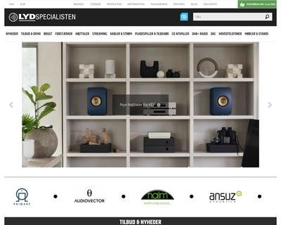 lydspecialisten.dk website