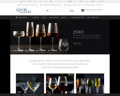 lyngbyglas.dk website
