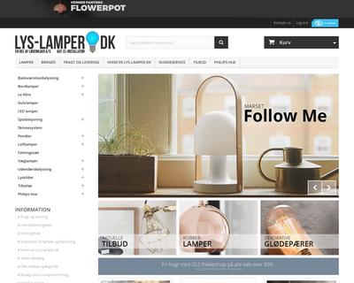 lys-lamper.dk website