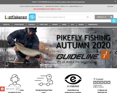 lystfiskeren.dk website