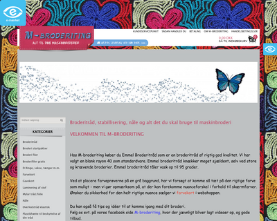 m-broderiting.dk website