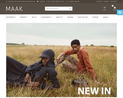 maak-shop.dk website