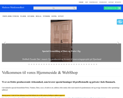 madsensmaskinsnedkeri.dk website
