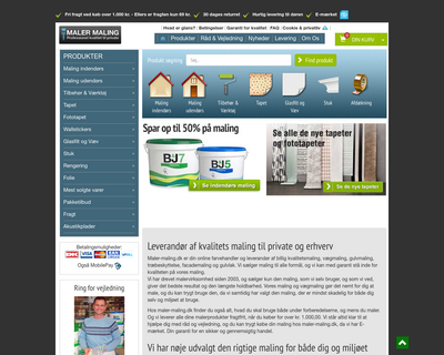 maler-maling.dk website