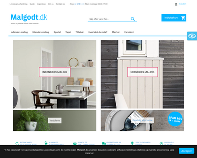 malgodt.dk website