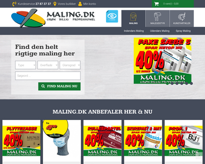 maling.dk website
