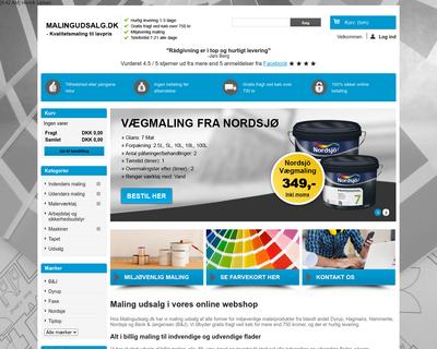 malingudsalg.dk website