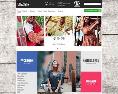 mamilla.dk website
