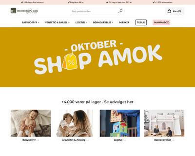 mammashop.dk website