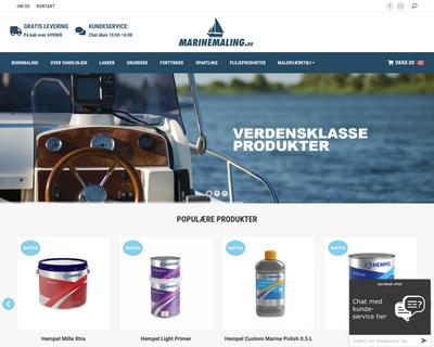 marinemaling.dk website