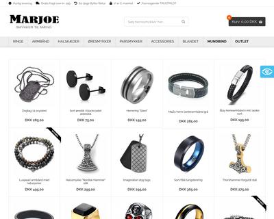 www.marjoe.dk website