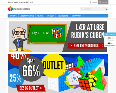 mastercubestore.dk website