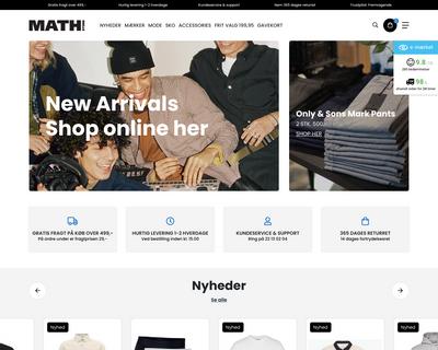 mathstore.dk website