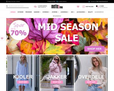 mettepshop.dk website