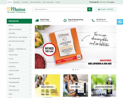 mezina.dk website