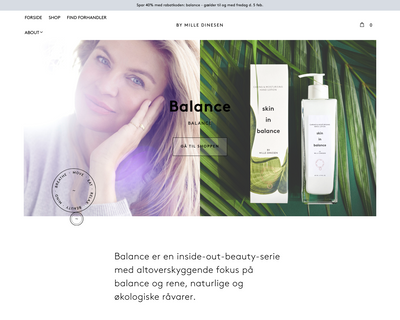 milledinesen.dk website