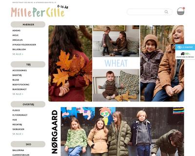 millepercille.dk website