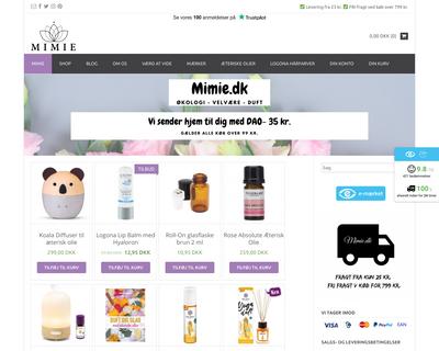 mimie.dk website