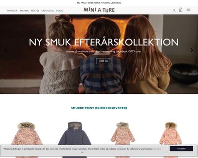 miniature.dk website