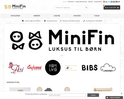 minifin.dk website
