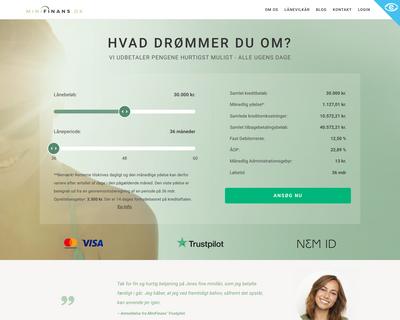minifinans.dk website