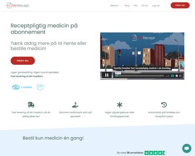 www.minrecept.dk website
