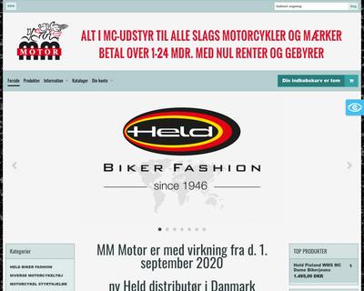 mmmotor.dk website