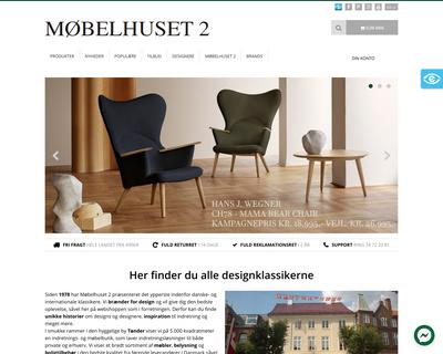 mobelhuset2.dk website