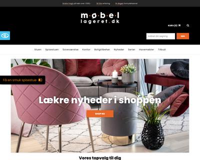 mobellageret.dk website