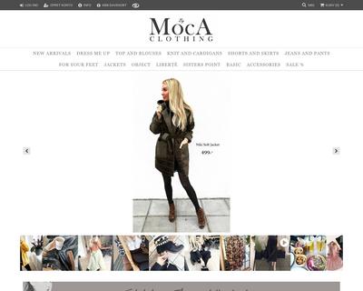 mocaclothing.dk website