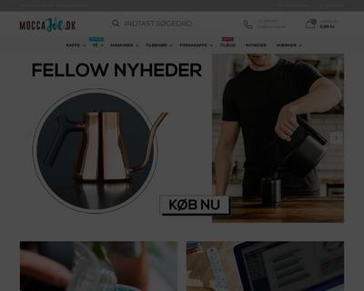 moccajoe.dk website