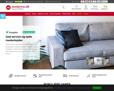moderno.dk website