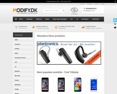 modify.dk website