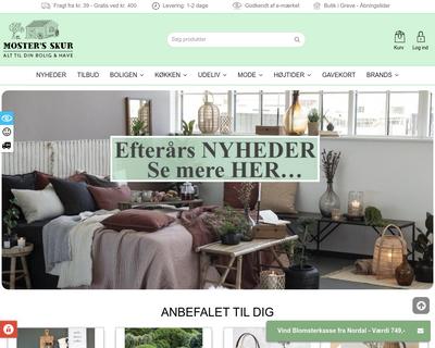 mostersskur.dk website